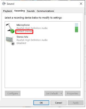 PowerDeWise Microphone is not working with my Windows PC/Laptop, what should I do?