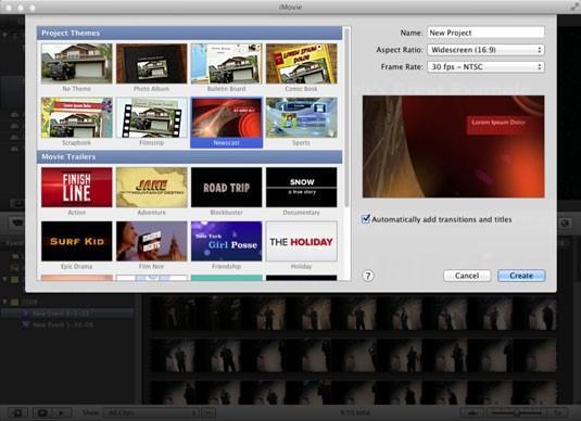 Screenshot from macbook iMovie