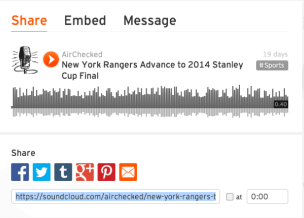 submiting podcast to sound cloud